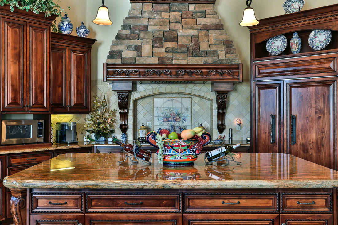 eric spurlock custom homes-custom, gourmet kitchen design